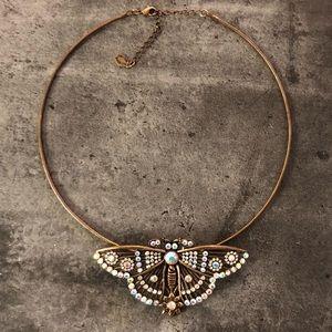 NWOT Ali Khan New York Butterfly Necklace